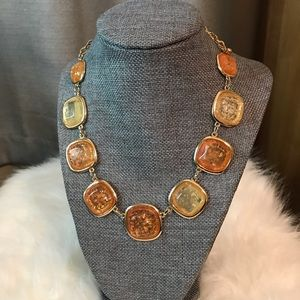 Amber statement necklace